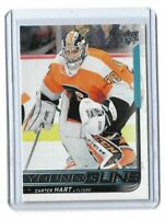 2018-19 UPPER DECK #491 CARTER HART YG RC UD YOUNG GUNS ROOKIE FLYERS