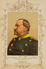 Unbekannt, Porträt des Herzogs Ernst II., Farblithografie