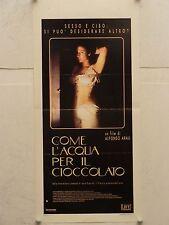 COME L'ACQUA PER IL CIOCCOLATO regia Alfonso Arau locandina originale 1993