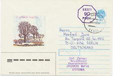 ESTLAND 1992 90 K violett neben 7 K alte Wertstempel m Kugelschreiber durchbalkt
