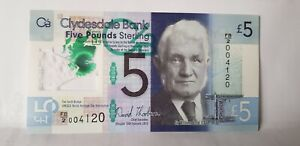 @@@ A SUPERB UNC 2015 CLYDESDALE BANK FIVE POUND NOTE RANDOM NUMBERS @@@