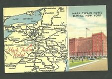 1950 Used Postcard Mark Twain Hotel Elmira New York 79735
