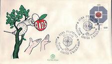 FDC ITALIA PRIMO GIORNO DI EMISSIONE 1989 AIDS LOTTA CONTRO L'A.I.D.S. 7-71