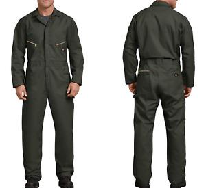 Dickies Men's XXL Deluxe Blended Long Sleeve Coveralls 2XL Regular Olive Green