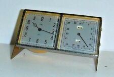 Fine Imhof Swiss 8 Day Desk Calendar Clock Month Day Date Working Mid-Cent