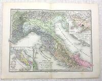 1865 Antik Map Of Italien Etrurien Alte Imperial Römische Reich Latin Gravur