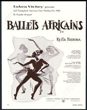 1960 Ballets Africains de Keita Fodeba dance tour booking trade print ad