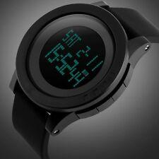 Fashion Black Mens Rubber Band Digital Army Military Quartz Sport Wrist watch