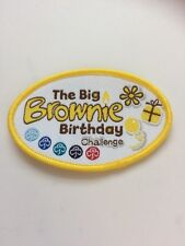 Vintage The Big Brownie Birthday Challenge Woven Badge  2014
