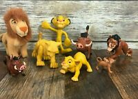 Lot of 8 Disney The Lion King Figures Scar Pumba Simba Cake Toppers Poseable