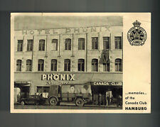 Mint Real Picture Postcard Canada Club Hamburg Germany Canadian Legion WW 2