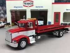 1/64 SPECCAST CUSTOM RED/WHITE PETERBILT 385 ROLLBACK TOW TRUCK