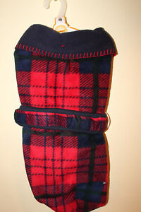 Fashion Pet Traditional Blanket Coat Red Plaid Lge..new