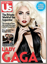 Us Weekly,Lady Gaga,The Private World of the Superstar,Free 5  HUGE Posters NEW