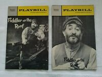Fiddler on the Roof Playbills - March 1967 & June 1969 - Non-Reproductions.