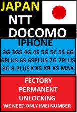 JAPAN NTT DOCOMO F IPHONE 3G 4S 5S 6G 6+ 7G 7+ 8 8+ & X  XR XS XSMAX UNLOCK