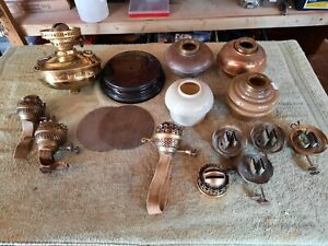 Oil lamp burners & fonts many Hinks weighted  and more ceramic base Messengers