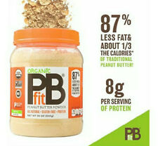 PBfit All-Natural Organic Peanut Butter Powder, Powdered 30 Ounce New