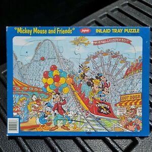 Vtg Jaymar Disney 30 Pcs Puzzles Classics Frame Tray (Mickey Amusement park)