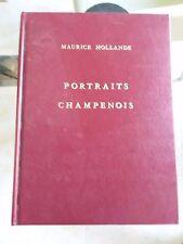 C2 Portraits Champenois, Maurice Hollande, Ed. Michaud 1977