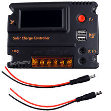 20A LCD Solar Panel Battery Regulator PWM Charge Controller 12V 24V Auto Switch