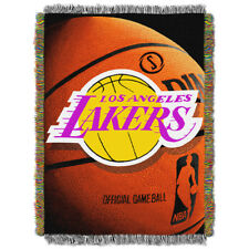Los Angeles Lakers NBA Woven Tapestry 48 X 60 Throw Blanket