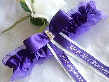 BRAND NEW PERSONALISED WEDDING/ HEN GARTER CHOICE OF DIFFERENT COLOUR GARTERS