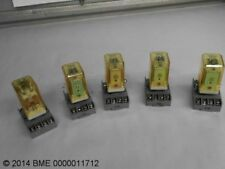 5 ICE CUBE RELAYS OF VARIOUS VOLTAGES WITH TERMINAL BLOCKS