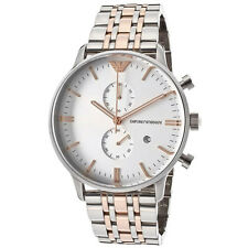 Emporio Armani Silver/Rose Gold Quartz Analog Men's Watch AR0399