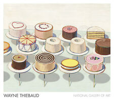Cakes, 1963 by Wayne Thiebaud Art Print Food Bakery Pastry Museum Poster 32x28