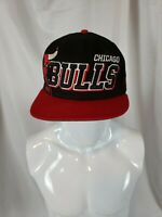 Chicago Bulls Men's New Era Vintage Black Logo Windy City NBA Snapback Hat Cap