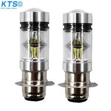 2* 100W HEADLIGHTS FOR HONDA TRX 450R 450ER 450 SUPER WHITE 6000K LED BULBS CA
