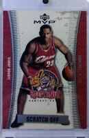 2003 03-04 Upper Deck MVP Sports Nut SCRATCH OFF LeBron James Rookie RC #SN90