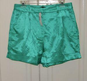 NWT J Crew sz 8 vintage kelly drapey hi-rise shorts in satin-faced linen #AM950