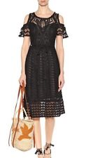 See By Chloe Crochet Cold Shoulder Dress Black L $475