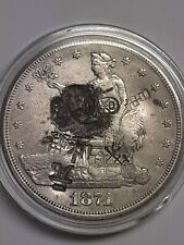 1874-S Trade Silver Dollar!! 7 Chops Marks!! 100% Authentic!! Fine Detailed!!
