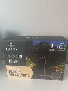 72 LED Solar Parasol Light – Garden Patio Table Umbrella Outdoor Fairy Lights