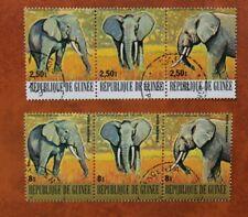 Guinea Zusammendrucke Elefanten gestempelt