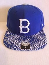 304bea0c66fbe Brooklyn Dodgers 47 Brand MLB COOP Moroc Fitted Hat Size 7 Blue