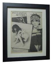 PATTI SMITH+Set Me Free+POSTER+AD+RARE ORIGINAL 1978+FRAMED+EXPRESS GLOBAL SHIP