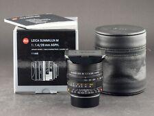 Leica m 28mm 1.4 ASPH. summilux 6bit negro 11668 foto-goerlitz compra + venta