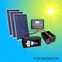 750W Solaranlage Komplettpaket 220V + Akku 280Ah Solarpanel 2000W Wandler Watt
