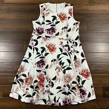 Calvin Klein Women's Plus Size 22W Floral Scuba Fit & Flare Sleeveless Dress