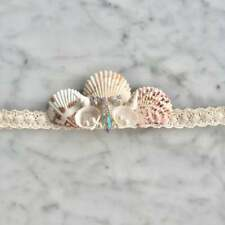 Ivory White Sea Shell Mermaid Crown Hair Band Headband Bridal Bride Boho Beach