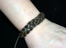 New LARP accessorie macrame bracelet medieval style leather brown (#b2bte203)