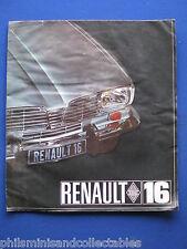 Renault 16  Sales Brochure c1976