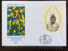 STAMP Bloc on Large FDC GERMANY ALLEMAGNE WEIHNACHTSBLOCK BONN 1976 . RARE !