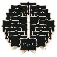10-20x Mini Blackboard Wooden Wedding Table Number Note Sign Message Chalkboard