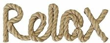 Nautical ROPE RELAX Lake House Cottage Decor Wall Sign Word Beach Hanging Ocean