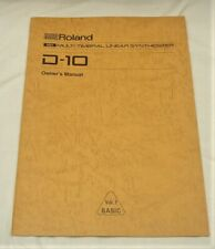 ROLAND D-10 SYNTHESIZER OWNER'S MANUAL EXCELLENT